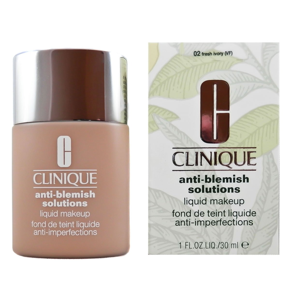 Clinique Anti-Blemish Solutions Liquid Makeup - 02 Fresh Ivory Clinique-0020714394776 CLI00088_-30