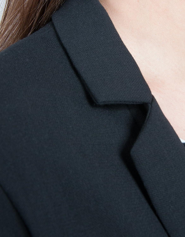Shana Chaqueta Blazer B&W, Abrigo para Mujer, 800 Negro, XS: Amazon.es: Ropa y accesorios