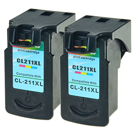 SuperInk 2PK Remanufactured Replacement CL 211XL Tri Color Ink Cartridge Use With PIXMA MP280