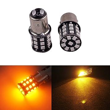 ... super brillante 1157 ax-2835 chipsets 33SMD coche bombillas LED para luces de cola luces de freno o intermitentes Luces, ámbar: Amazon.es: Coche y moto