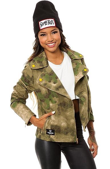 Womens camo motorcycle jacket