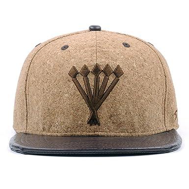 6a57f65f435 AUNG CROWN Cork Sawdust Snapback Hats Men Women 3D Embroidered Flat Bill  Baseball Caps