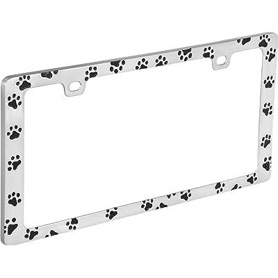 Bell Automotive 22-1-46104-8 Universal Black Paw Print Design License Plate Frame: Automotive