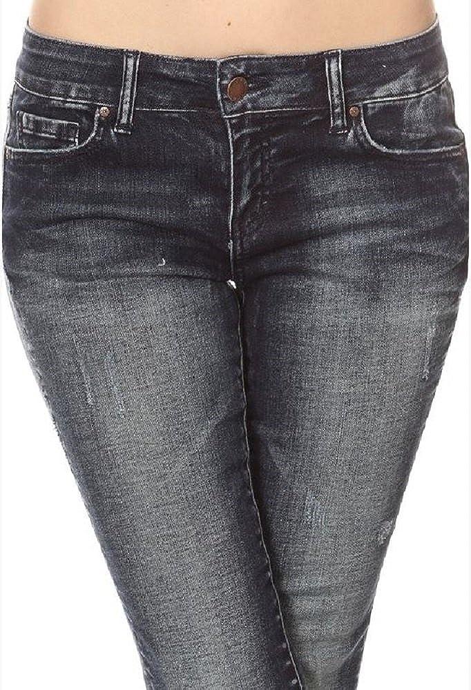 Amazon.com: Wax - Pantalones vaqueros para mujer con bajo ...