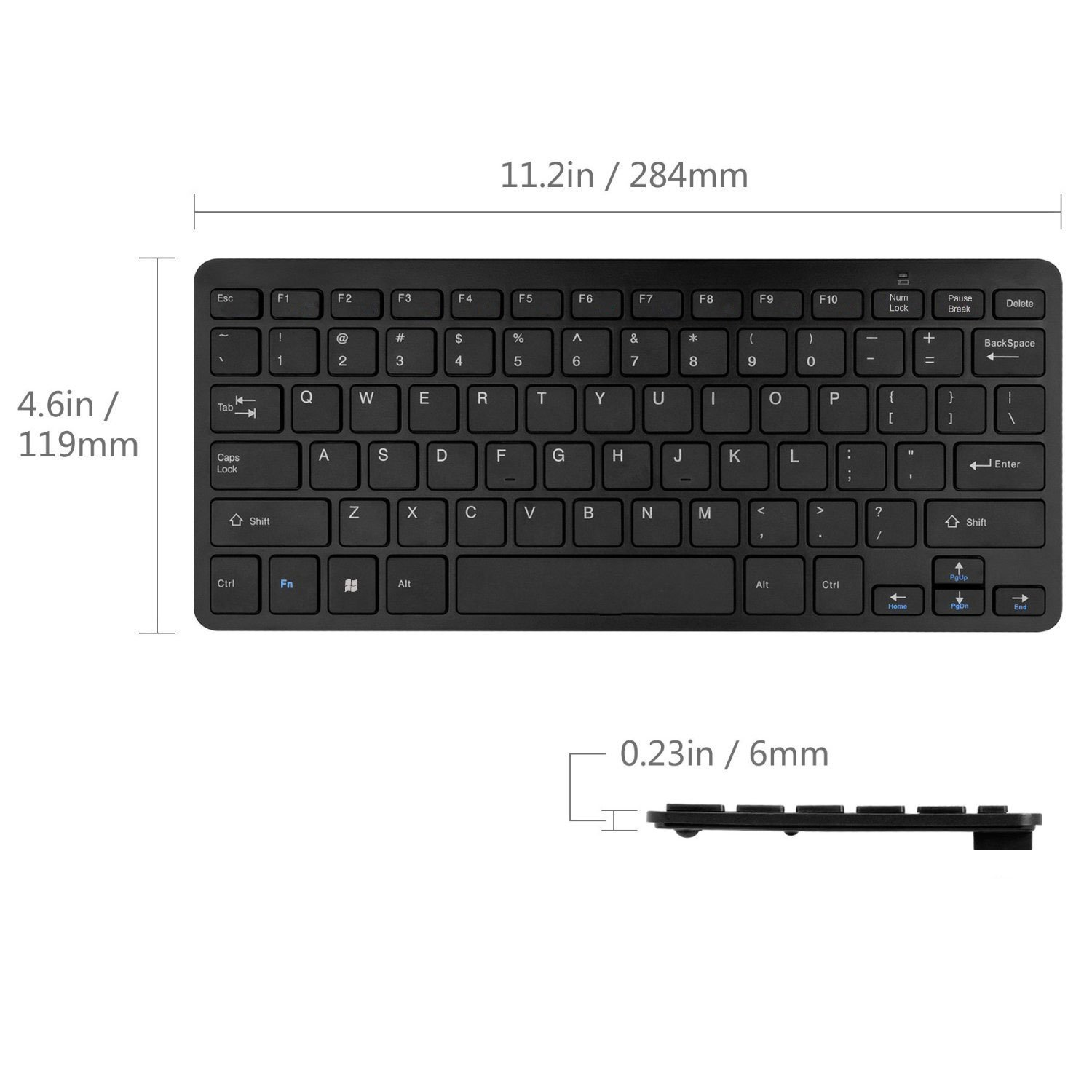 949885a5d9b Bestdeal Black Wireless Mini Ultra Slim Keyboard and Mouse for SONY Smart TV  KDL-50W807C & KDL-55W755C & KDL-43W807C & KDL-40W705C & KDL32R433: ...