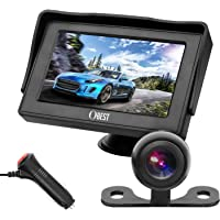 OBAST Backup Camera and Monitor Kit - Rear View Reversing Camera with Waterproof Night Vision and 4.3 ' LCD Monitor Power One Cigarette Lighter