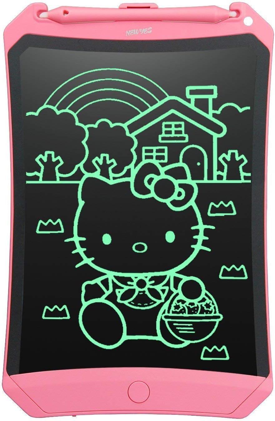 NEWYES Tableta de Escritura LCD 8,5 Pulgadas | Tablet para Dibujar para Niños. Colores Más Brillantes. Pizarra electrónica para Aprender a Leer, ...
