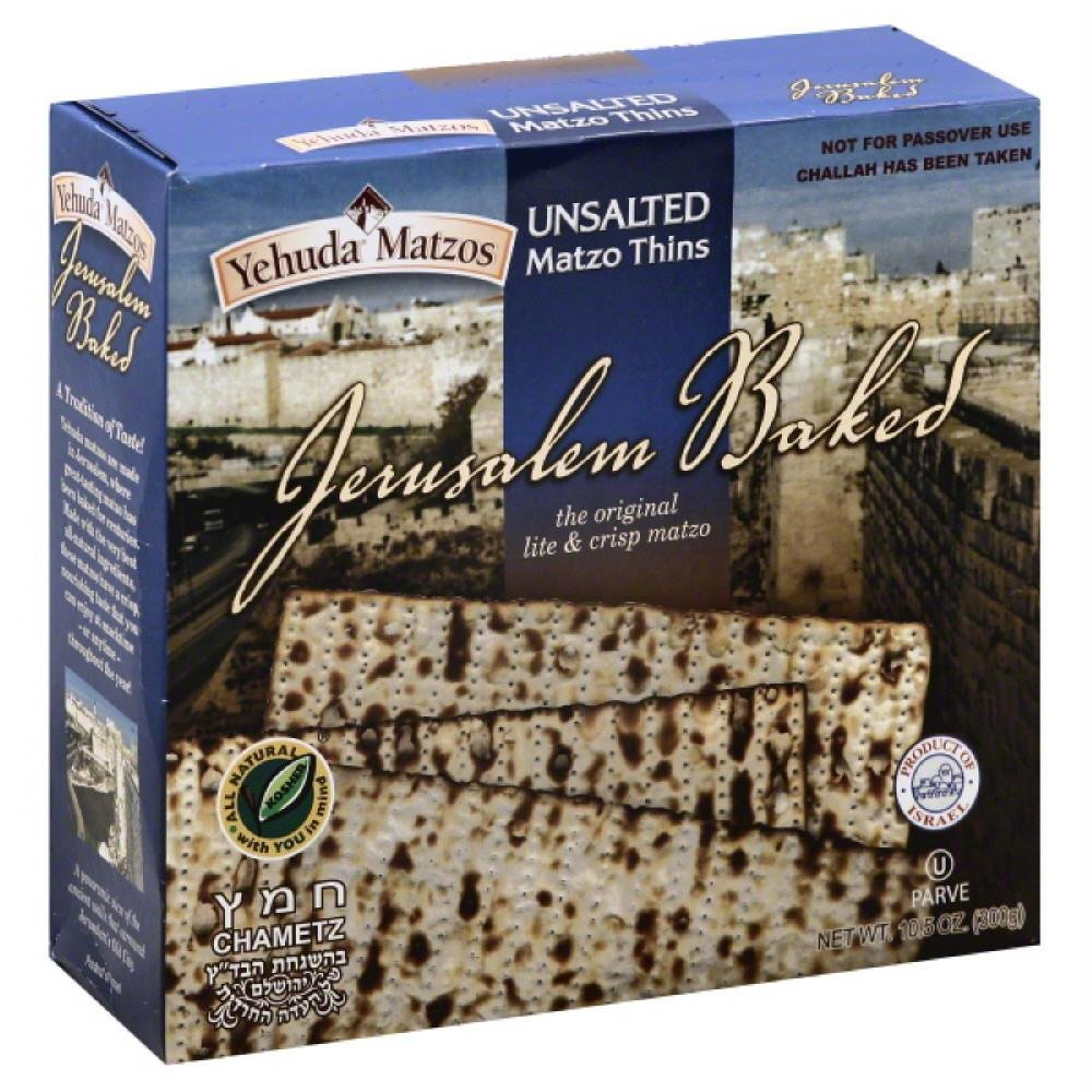 Yehuda BG19844 Yehuda Matzo Thins Unslt - 24x10.5OZ