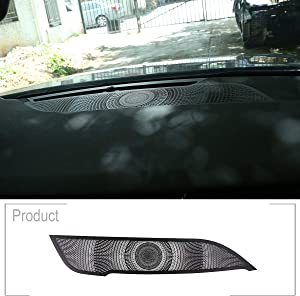 TongSheng Black Aluminum Alloy Car Dashboard Speaker Cover Trim for Range Rover Evoque 2019 2020 Year Left Hand Drive Accessories