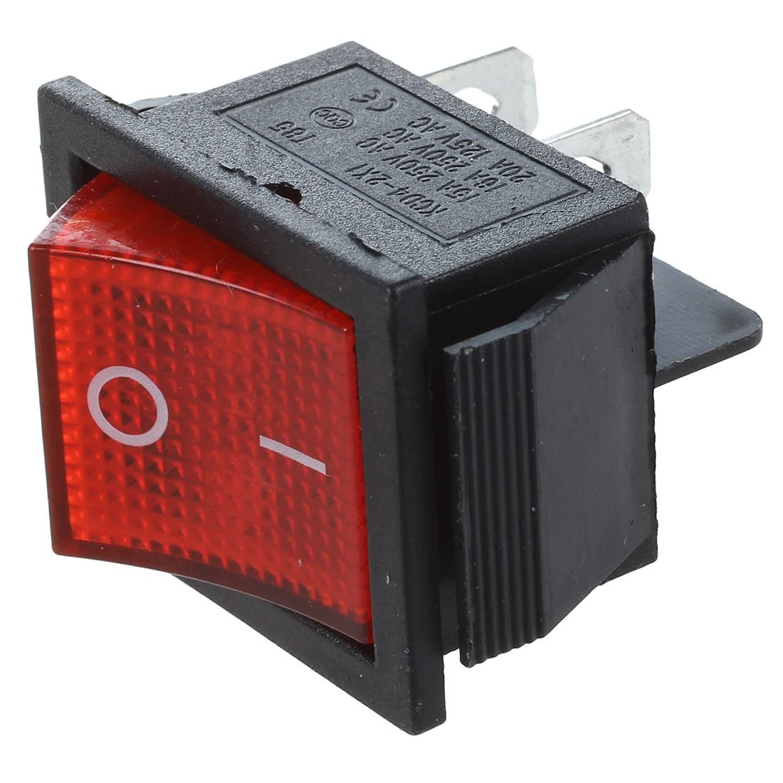 TOOGOO(R) 16A/250V 20A/125V AC Red Neon Light ON/OFF DPST Boat Rocker Switch 5 Pcs by TOOGOO(R) (Image #4)