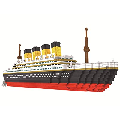 JJWW Large 3800 Pcs Building Block Titanic Cruise Ship Model DIY Assemble Diamond Building Blocks Classic Bricks Model Toys: Sports & Outdoors