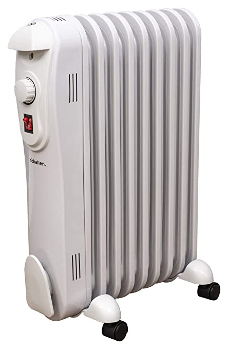 d6bb8e13455 Schallen 2000W 9 Fin Portable Electric Slim Oil Filled Radiator Heater with  Adjustable Temperature Thermostat
