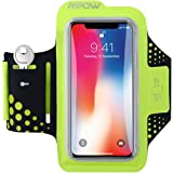 Mpow Running Armband for iPhone X/8/7/ 6s/ 6, Running Phone Armband Sweatproof with Reflective Strips, Key Slot and Headphone Slots, for Phones up to 5.1 Inches, Suitable for Running, Biking