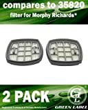 2 Pack Filter for Morphy Richards Supervac Handheld Vacuum Cleaners. Genuine Green Label Product