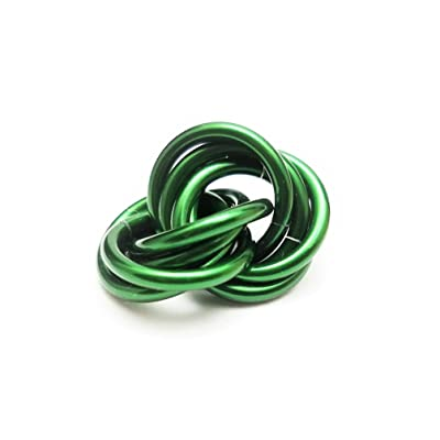 Half Möbii Emerald: Small Mobius Hand Fidget Toy, Shiny Stress Rings for Restless Hands, Office Toy