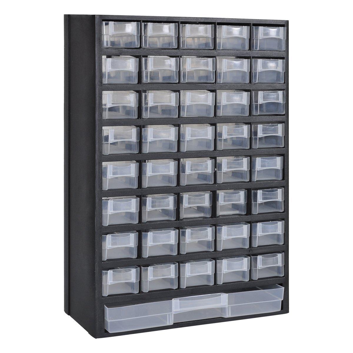 vidaXL Sortimentskasten 41 F/ächer Sortimentsboxen Kleinteilemagazin Organizer