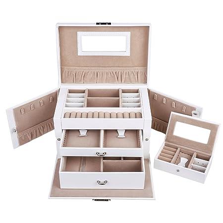 Songmics Elegant Jewellery Box Jewelery Storage Case Jewellery