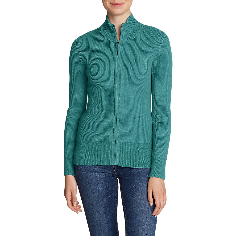 Eddie Bauer Women's Medina Zip Cardigan Sweater 45257