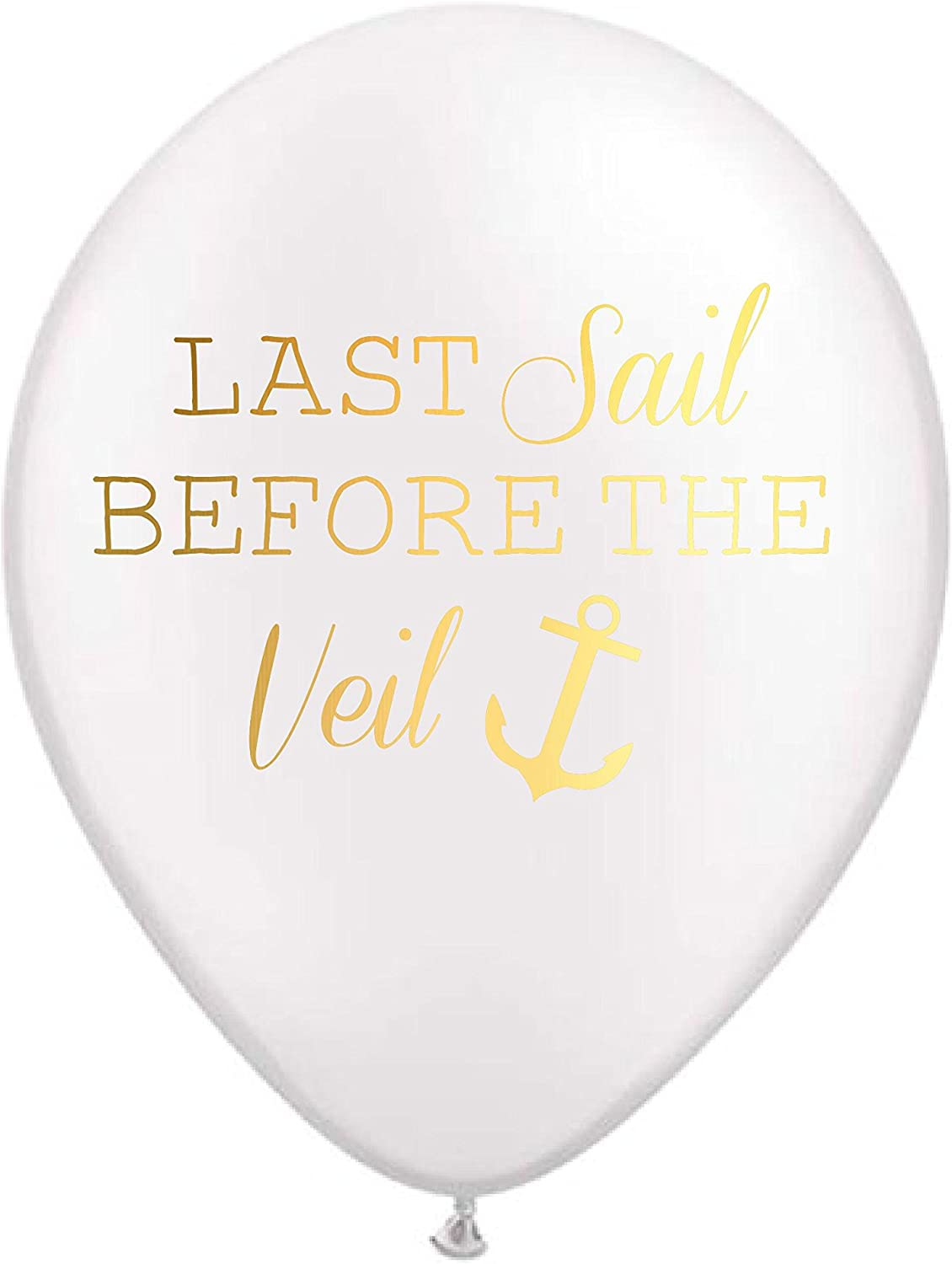 White Last Sail Before the Veil Balloons Anchor Bachelorette Party Decorations Nautical Party Balloons Nautical Bachelorette Decorations Set of 5 Bachelorette Party Supplies Nautical