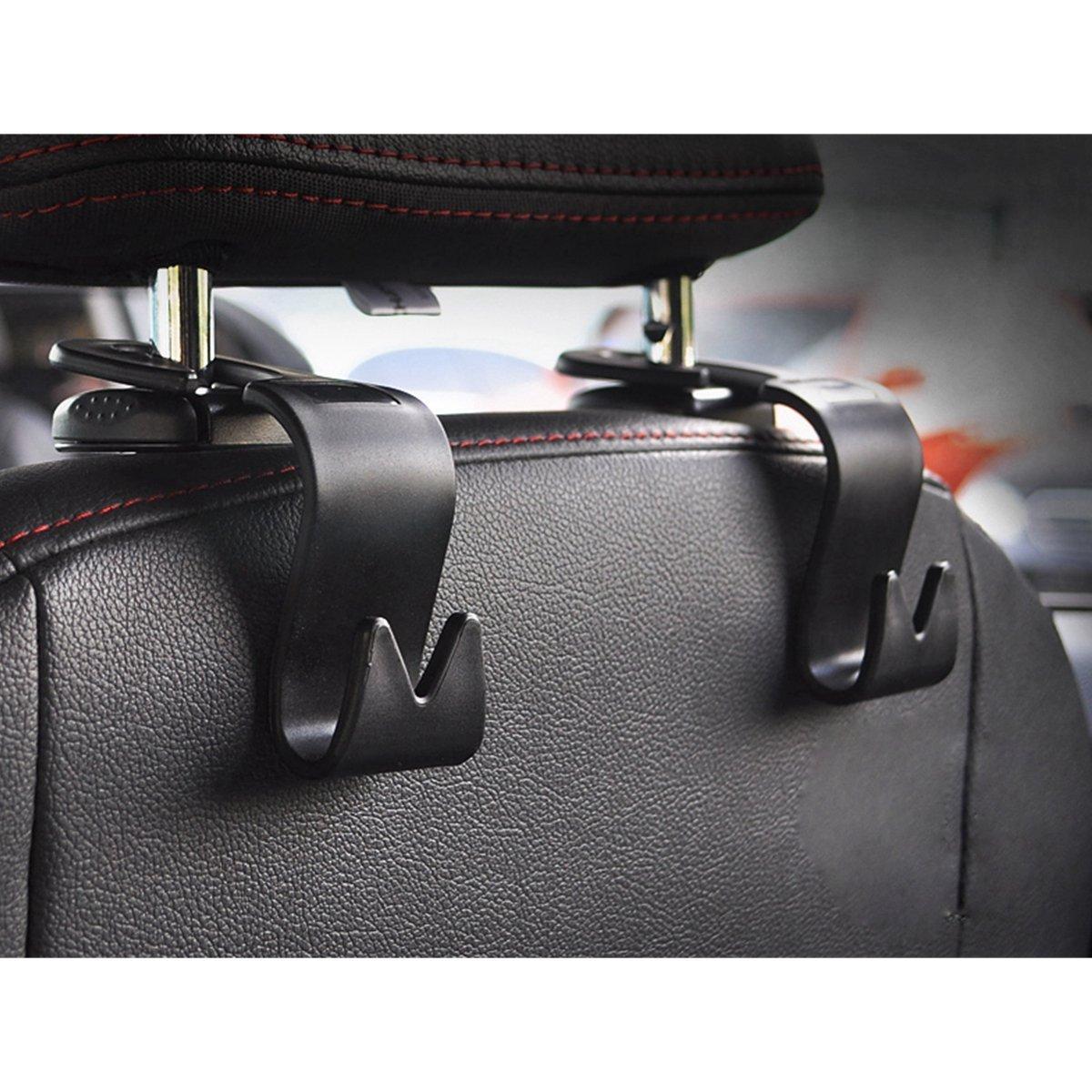 Auto R/ücksitz Kopfst/ütze Haken Lagerung f/ür Auto SUV Handtaschen Brieftaschen Jacken Essen Taschen Wasserflaschen und vieles mehr MINGZE 8 St/ück Auto R/ücksitz Kopfst/ütze Haken Kleiderb/ügel Halter