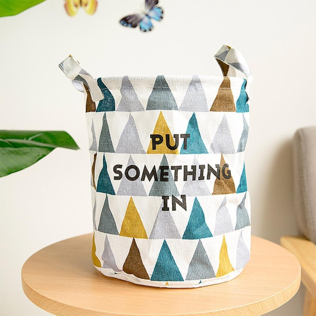❤️Amlaiworld Cesto de almacenamiento plegable Armario juguetes Caja Contenedor Organizador Tela Cesta Almacenamiento de la cesta de ropa de lavander/ía B, 23 * 23* 26cm