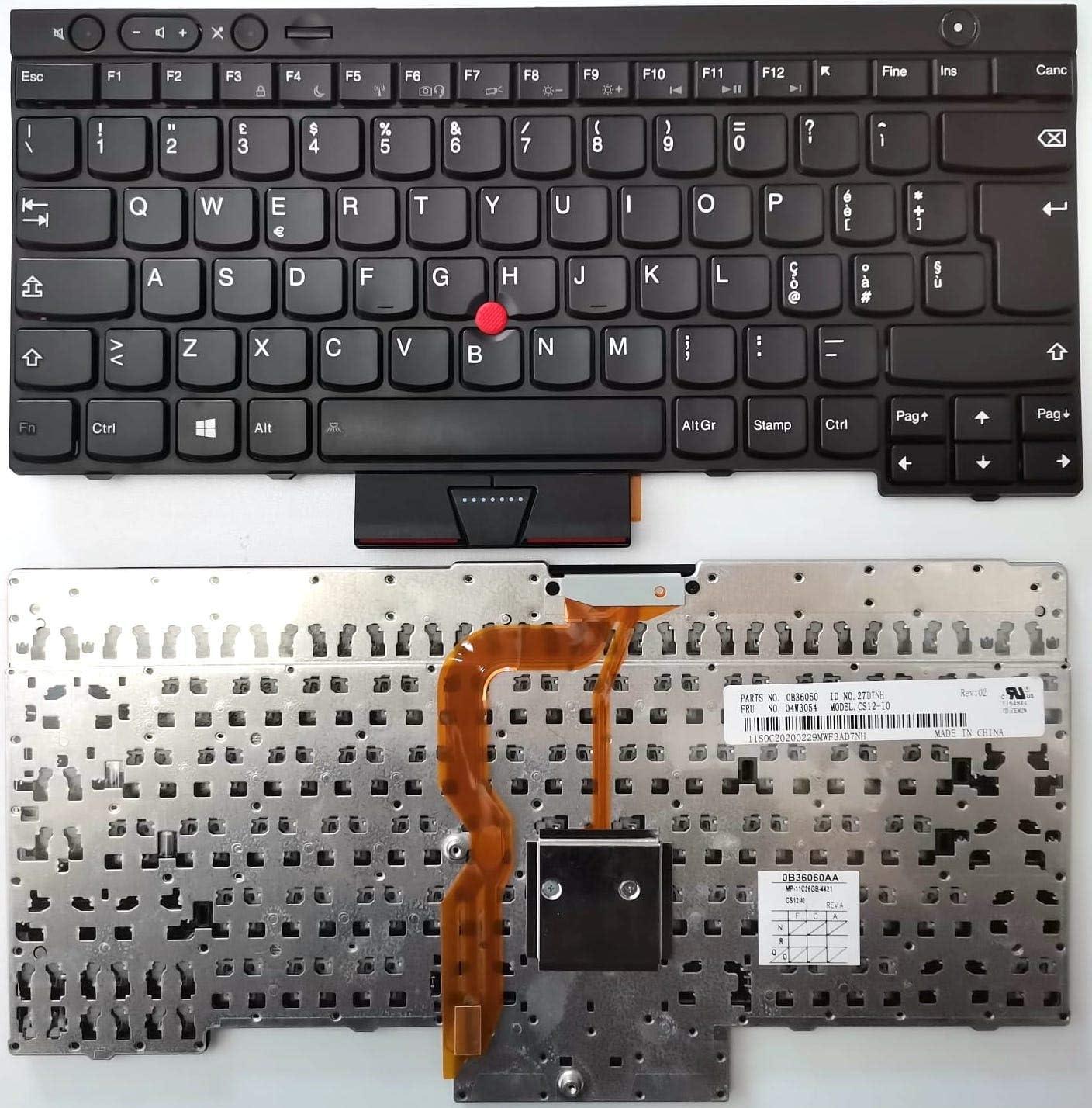 Tastiera Italiana Compatibile con Notebook Lenovo ThinkPad X230 X230i X230t W530 T530 L430 L530 T430 T430i T430S T430SI New Net Keyboards
