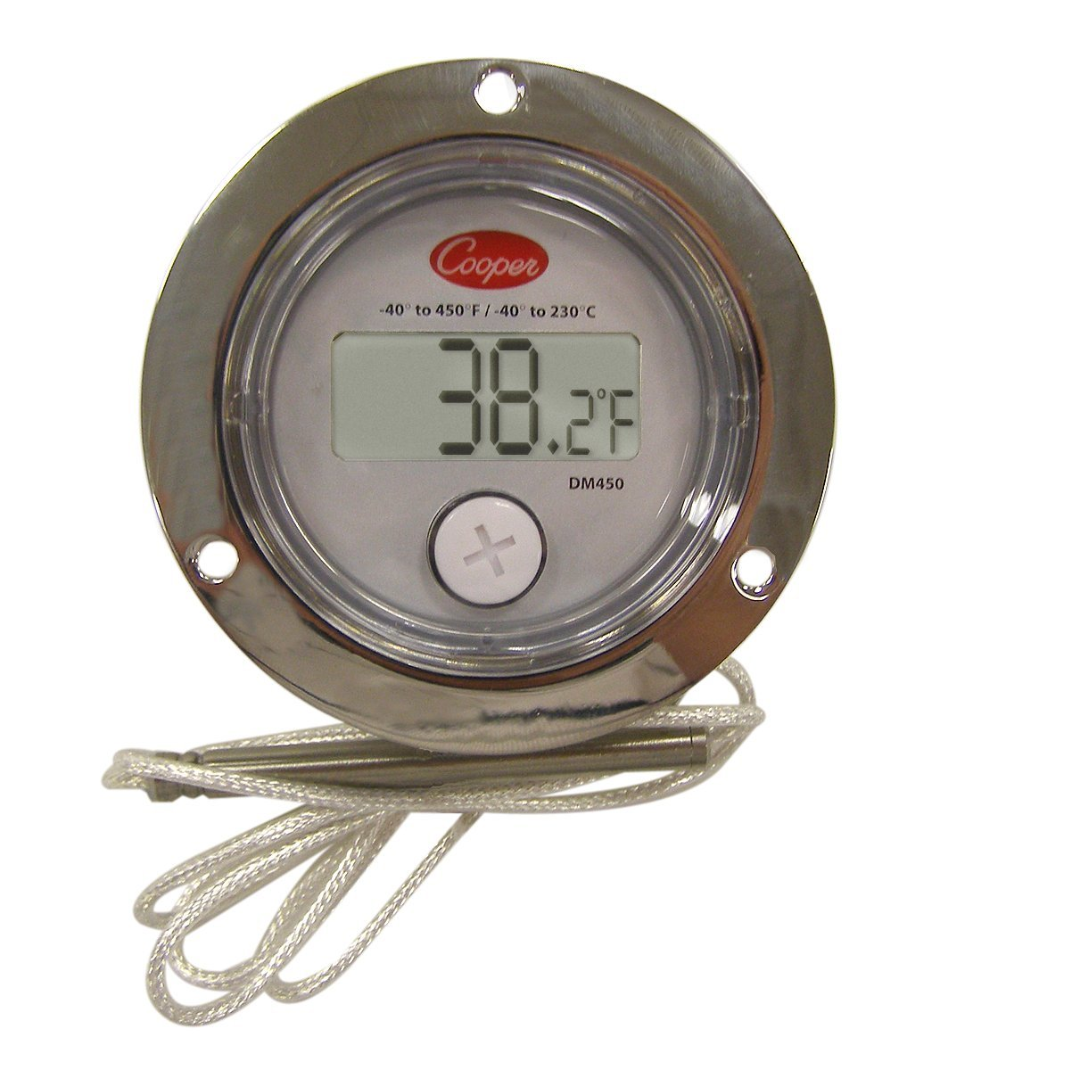"""Cooper-Atkins DM450-0-3 Digital Panel Thermometer with 2"""" Front Flange, -40/450° F Temperature Range"""