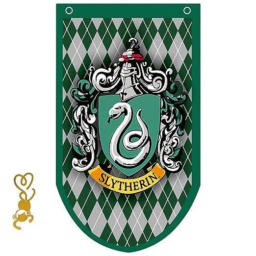 FengHuiCartoon [95CM X 60CM Cartel de Pared de Gift for Harry Banner Potter, Gryffindor | Slytherin | Hufflepuff | Ravenclaw Banderas para la ...