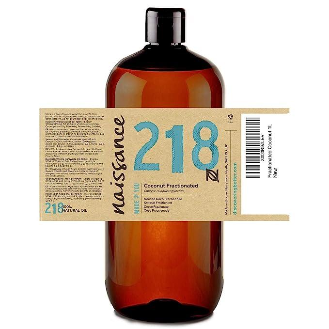 Naissance Aceite Vegetal de Coco Fraccionado n. º 218 - 1 Litro - Puro, natural, vegano, sin hexano, no OGM - Ideal para aromaterapia, masajes y recetas ...