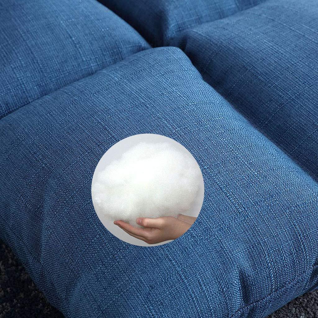 Tocadores Liggande levande ensam tatami lat soffa justerbar golvstol 6-stegs justerbar loungestol med hög motståndskraft bomull bekvämt ryggstöd för spel fritid, grön + blå gRÖN