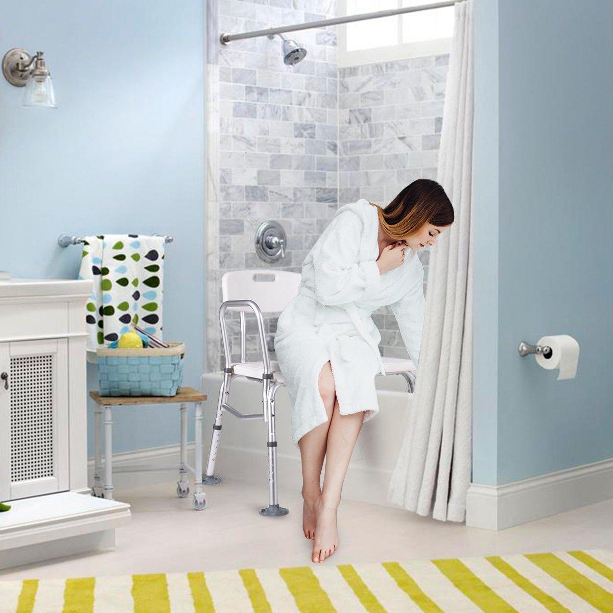 Giantex Shower Bath Seat Medical Adjustable Bathroom Bath Tub ...