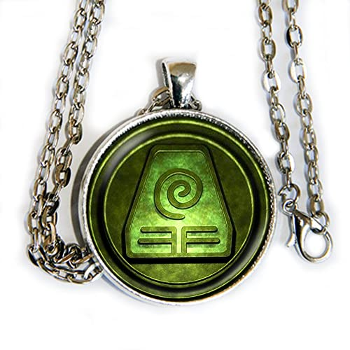 Amazon Avatar Airbender Earth Symbol Pendant Necklace Hm