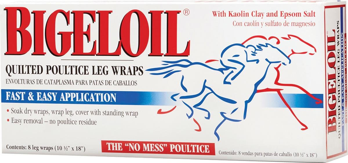 Absorbine 689765 Bigeloil Quilted Poultice Leg Wraps, 8 Pack by Absorbine