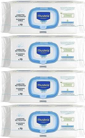 Mustela Baby Wipes - 4 Packs by EXPANSCIENCE: Amazon.es: Salud y ...