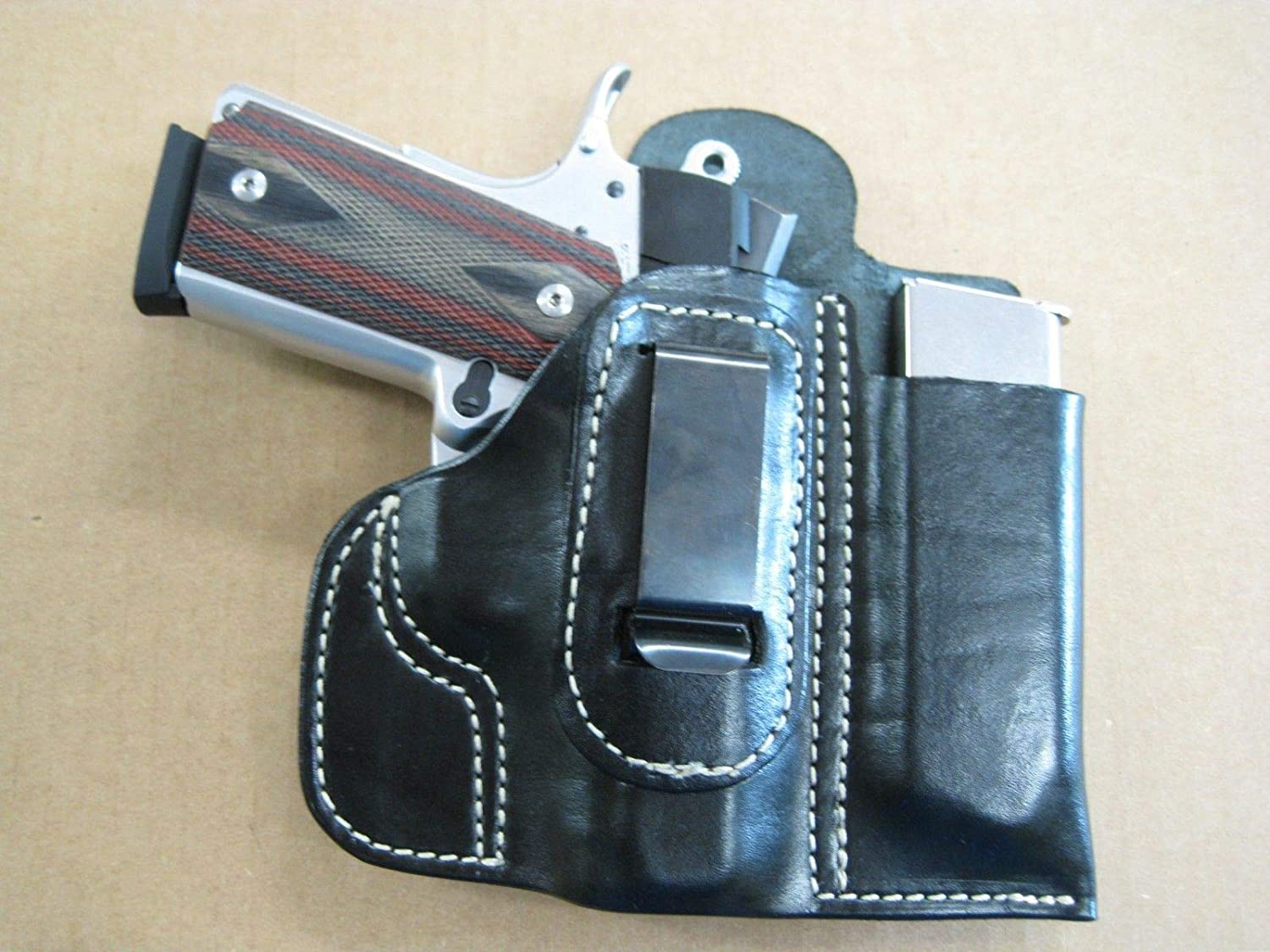 Belt Holster with Mag Pouch Leather Holster Fits Sig Sauer 1911 9mm
