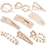 9 Pieces Artificial Pearl Hair Pins Hair Barrettes Decorative Bridal Hair Clips Handmade Hair Accessories for Women