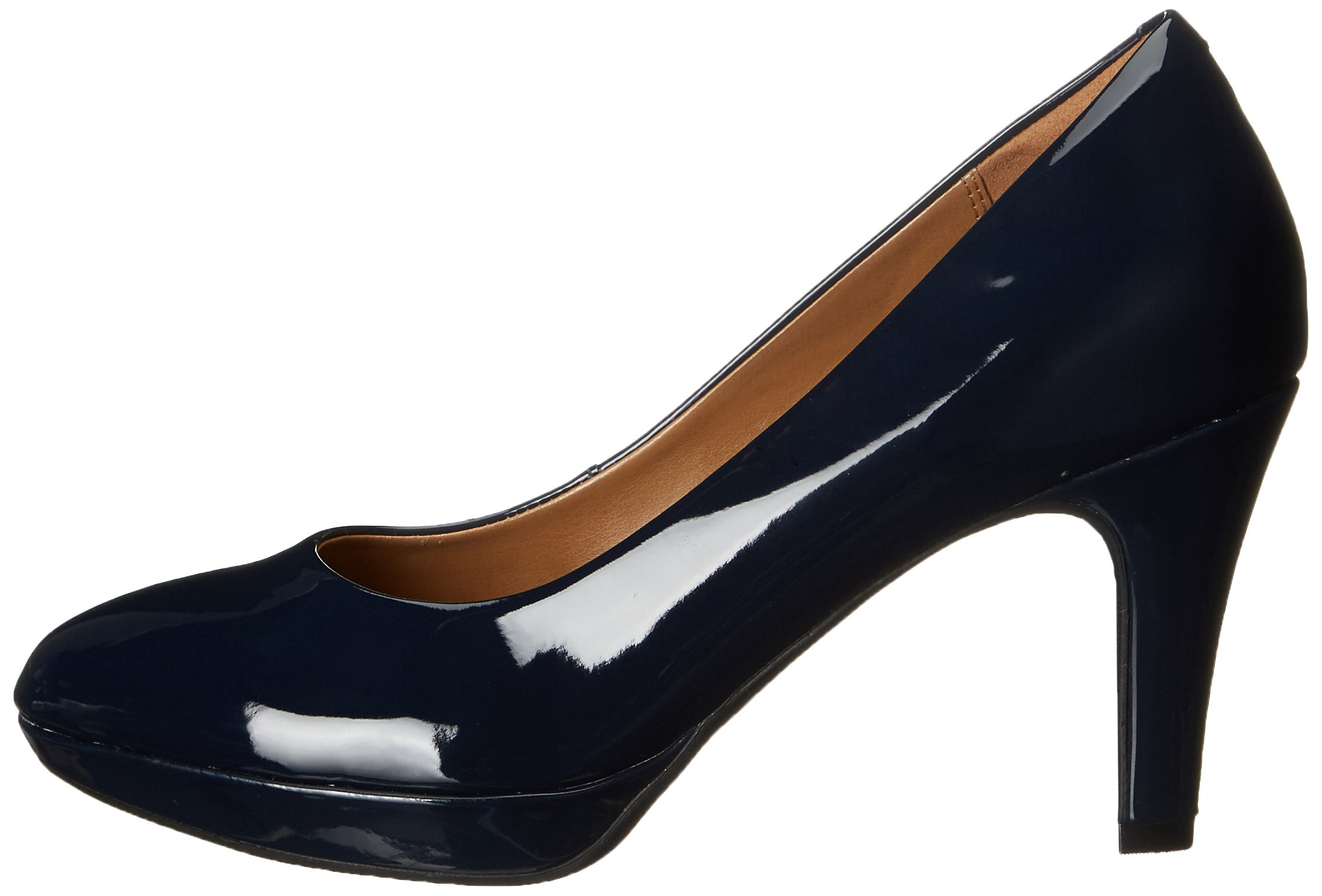 CLARKS Women's Brier Dolly Platform Pump, Navy, 11 W US by CLARKS (Image #5)