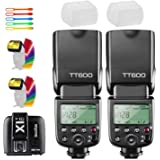 Godox 2X TT600 High Speed Sync 2.4G Wireless Camera Flash Speedlite with Godox X1T-C Remote Trigger Transmitter…