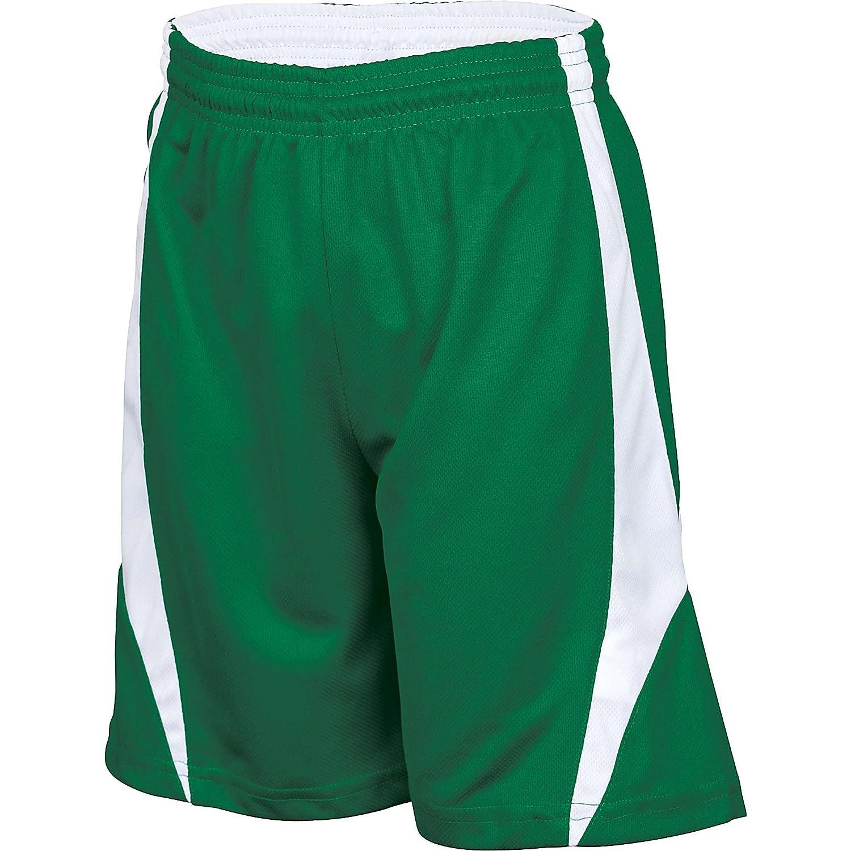Alleson Youthリバーシブルバスケットボールショーツ B007J07YPI グリーン/ホワイト Small