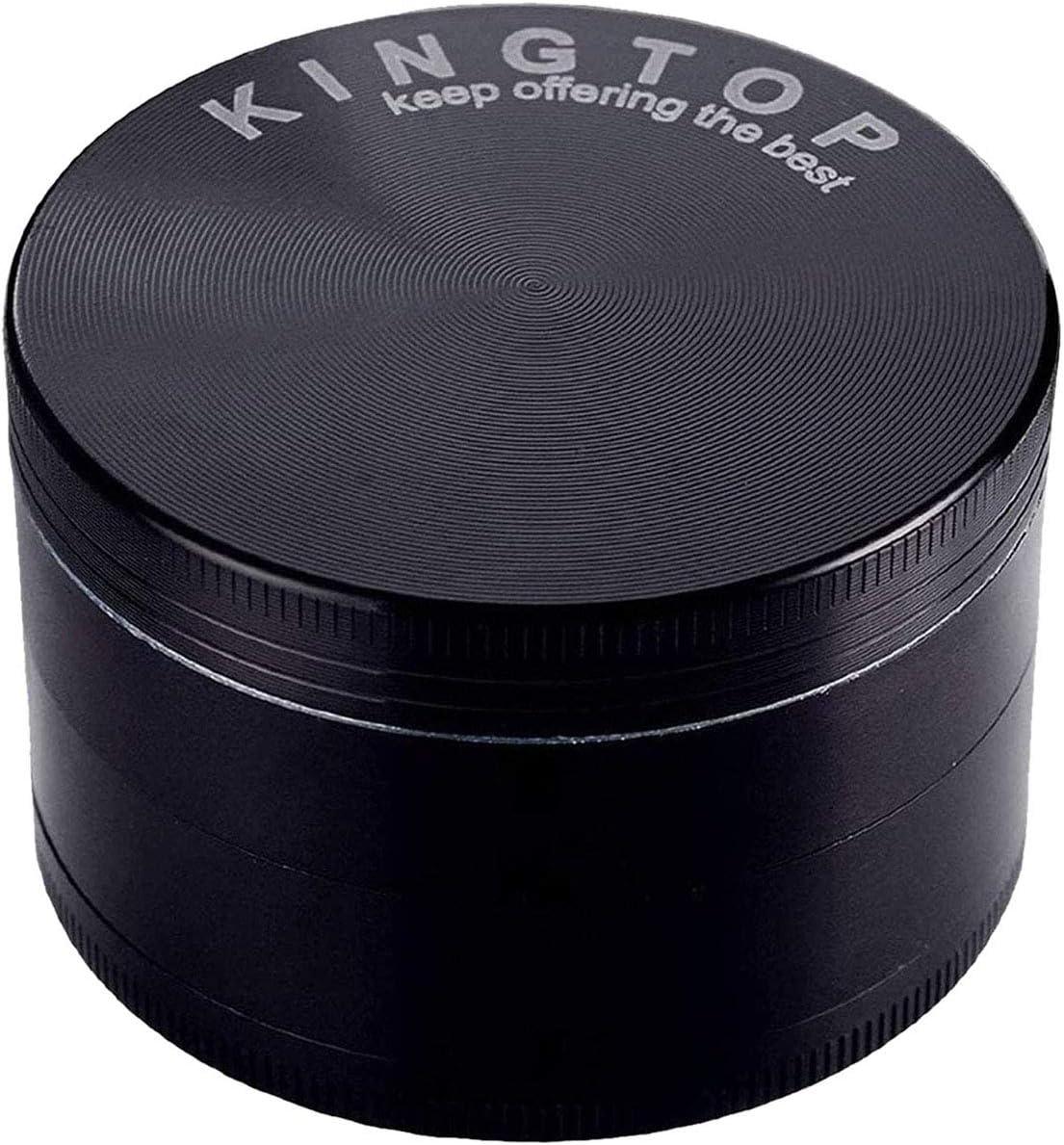 """Kingtop 3"""" Black Herb Spice Grinder Large"""