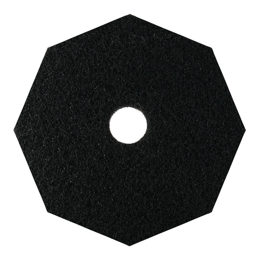 HUBERT Floor Stripping Pad Octagon Black - 17'' Dia 5 Per Case
