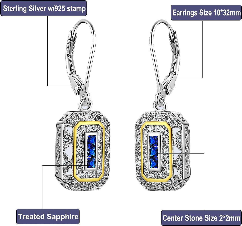 Sterling Silver 16x12mm Snowflake Blue Crystal Christmas Charm