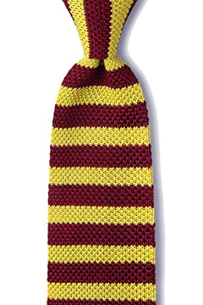 Mens Hipster Classic Rugby Stripe 275 Knit Knitted Tie Necktie