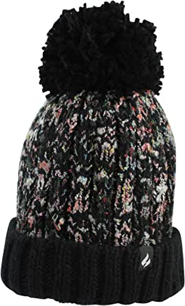 Heat Holders Eidda Thermal Textured Twist Pom Pom Beanie Hat