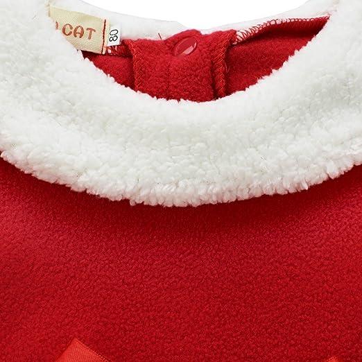3 A/ños Agoky Vestido Rojo de Santa Claus para Beb/é Ni/ña Disfraz de Pap/á Noel Mam/á Noel con Sombrero Vestido Tut/ú Princesa Ropa Christmas 12 Meses