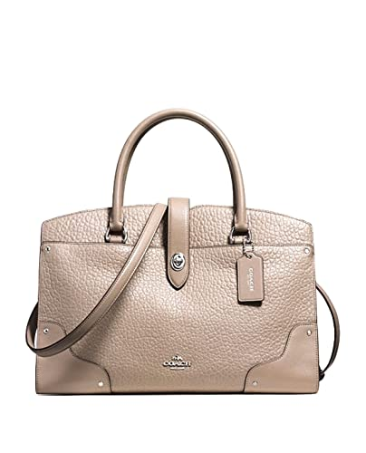 Coach Mercer Satchel Stone Silver  Handbags  Amazon.com 82b642c208656