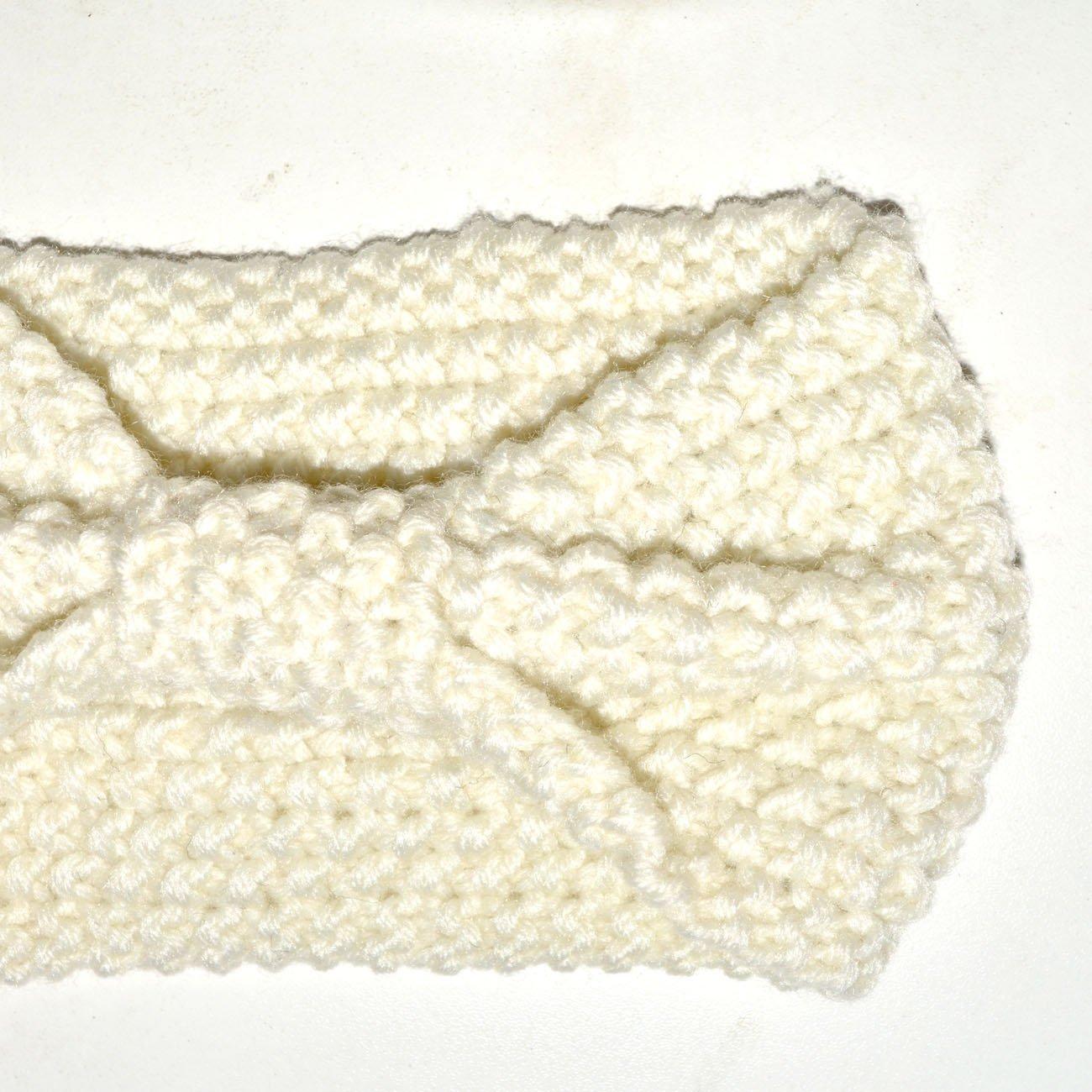DRESHOW 4 St/ück Damen Gestrickt Stirnband Winter Kopfband Haarband Stirnband H/äkelarbeit Ohr W/ärmer