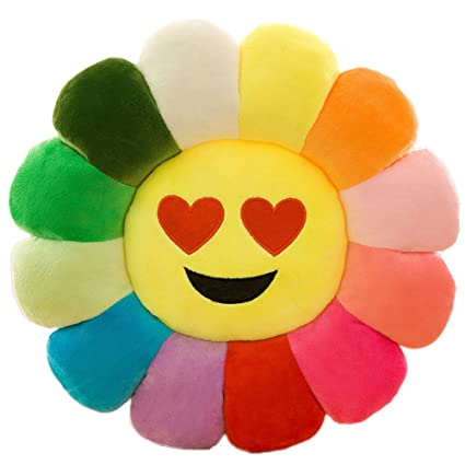 Amazon.com: Superi Flower Floor Pillow Soft Plush Rainbow Emoji ...