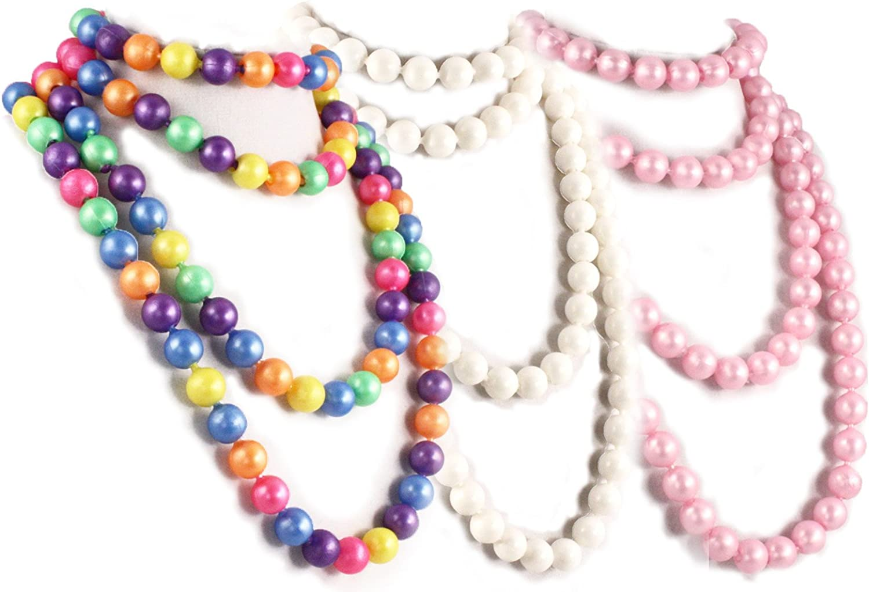 50s Retro Pop Beads Variety Fun Pack - 1 Bag Each Rainbow, Pink, White Beads 711UKqkrVAL