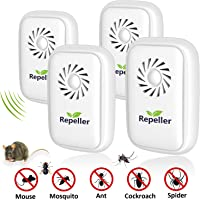 ROOTOK Repelente Ultrasonico Mosquitos, Electrónico Repelente Mosquitos Insectos
